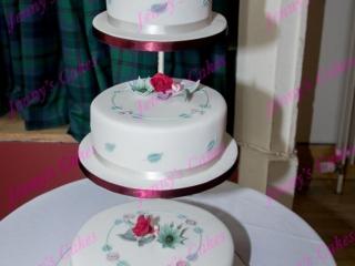 Rennie Mackintosh Inspired Wedding Cake with Art Nouveau detail