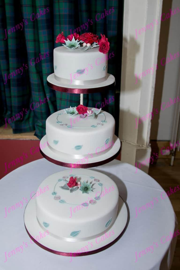 Rennie Mackintosh Inspired Wedding Cake with Art Nouveau detail