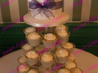 Cupcake Tower with butter-Cream Swirls