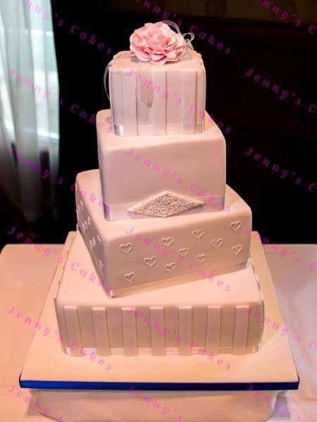 Bespoke Four Tier Offset Square Cake
