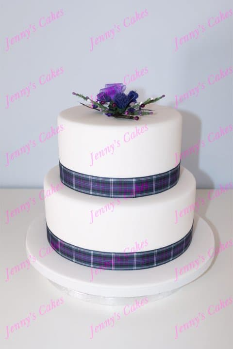 Two Tier Wedding Cake for smaller weddings