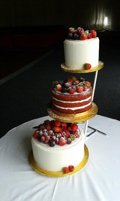 Naked Red Velvet and Buttercream wedding cake