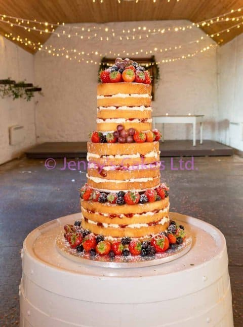 Three Tier Naked Cake with fresh berries
