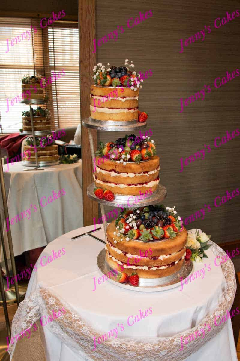 Naked Wedding Cakes Made And Set Up At Your Venue In