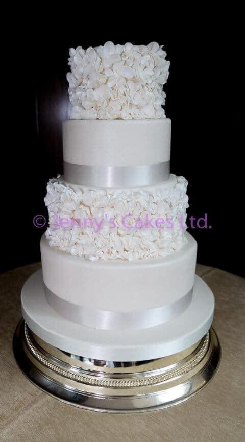 Wedding Cake with Sugar ruffles