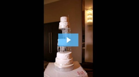 Behind the Scenes Video -Crystal Waterfall Wedding Cake