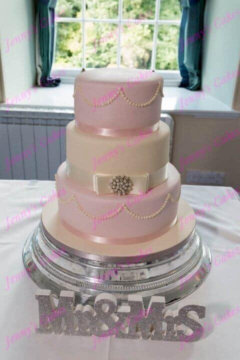 Soft Pink Wedding Cake