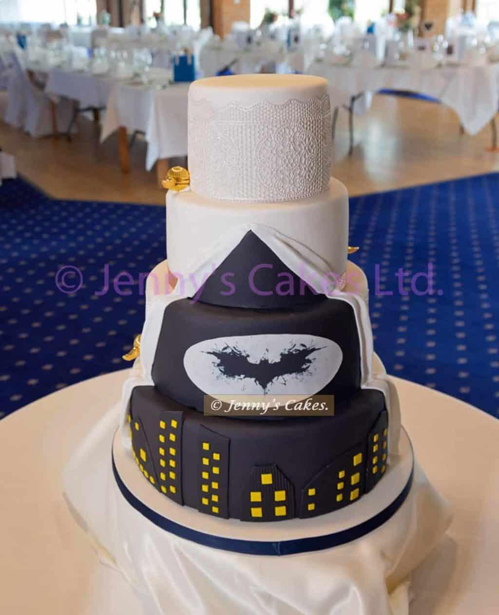 Batman Gotham City Wedding Cake