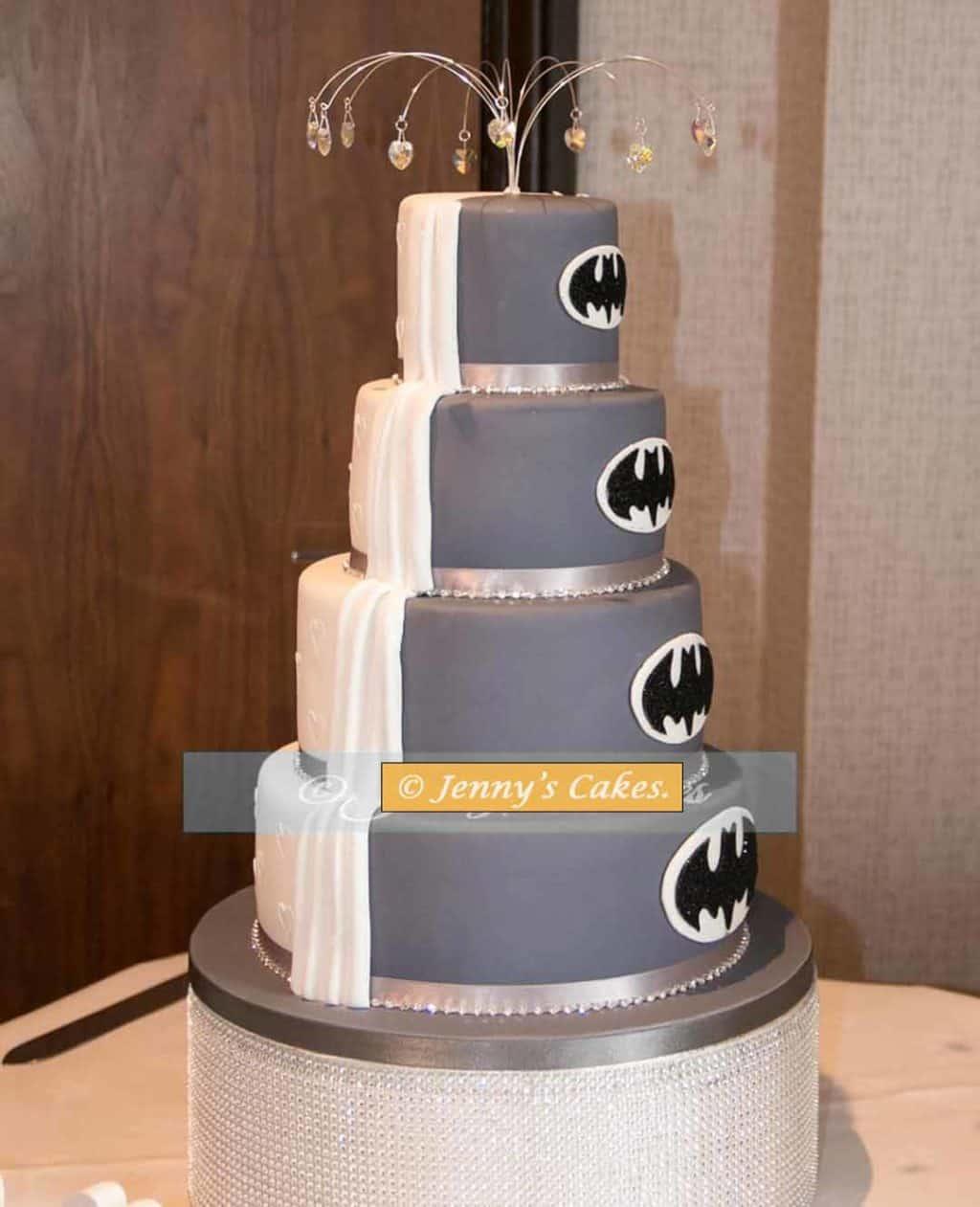 Batman Half and Half Wedding Cake