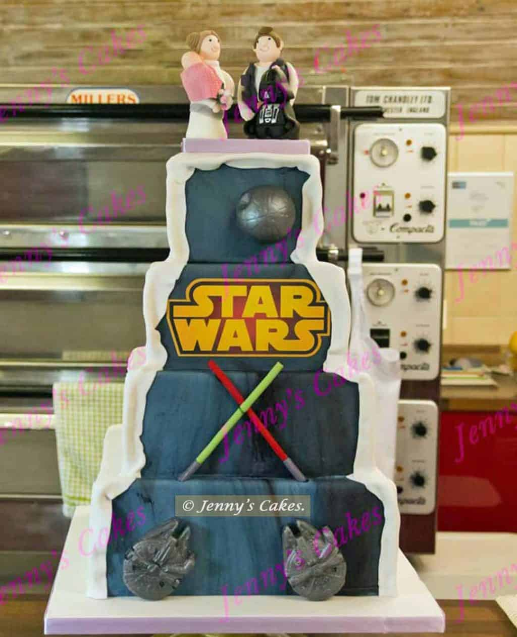 Square Star Wars Cake with topper