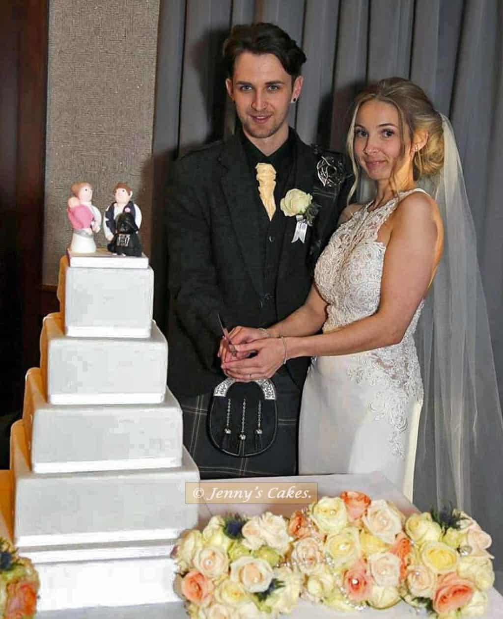 Square Star Wars Wedding Cake