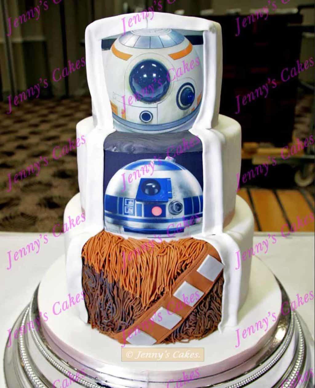 Star Wars Wedding Cake- wookie