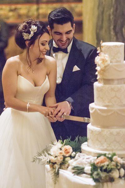 Five Tier Baroque Wedding Cake at Mount Stuart
