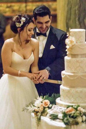 Cutting the Wedding Cake Photo