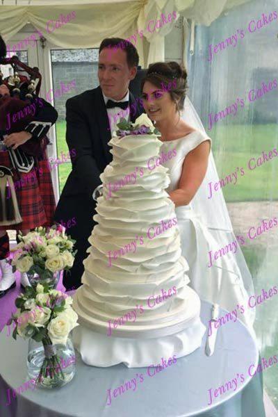Cutting The Wedding Cake-Carlowrie Castle